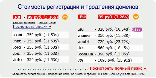 Лучший регистратор доменов
