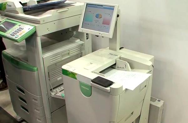 Принтер который может как печатать текст так и стирать его из бумаги